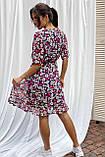 Pintore Романтичное шифоновое платье с рюшами - розовый цвет, 46р, фото 2