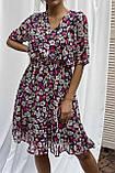Pintore Романтичное шифоновое платье с рюшами - розовый цвет, 46р, фото 3