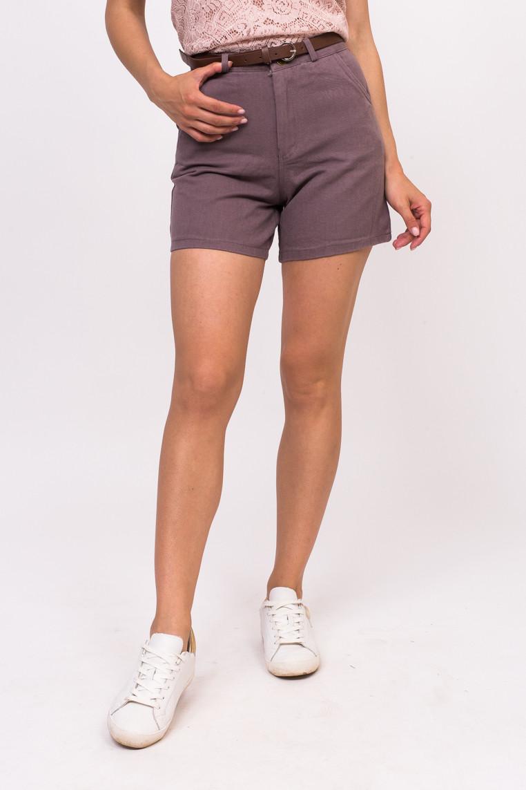 LUREX Джинсовые женские шорты - фиолетовый цвет, L
