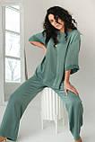 CLEW WOMAN Свободный костюм-двойка с разрезами по бокам  - мятный цвет, M, фото 5