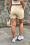 YJX Женские летние шорты с плетеным поясом  - бежевый цвет, M, фото 2
