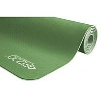 Коврик мат для йоги и фитнеса нескользящий 6 мм Зелёный