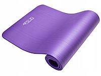Каучук коврик для йоги и фитнеса Йога мат нескользящий 1,5 см Фиолетовый