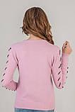 LUREX Кофта с кленовыми листикам - розовый цвет, L, фото 3