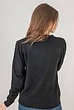 LUREX Кофта с цветочной вышивкой на воротнике - черный цвет, S, фото 3