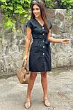 LUREX Платье-сарафан летнее на пуговицах  - черный цвет, L, фото 2