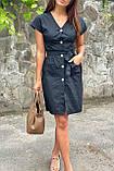 LUREX Платье-сарафан летнее на пуговицах  - черный цвет, L, фото 3