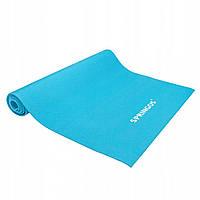 Коврик для йоги и фитнеса Йога мат нескользящий 4 мм Голубой Springos