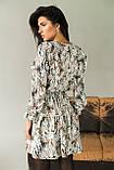 LUREX Элегантное платье с интересным рисунком - серый цвет, M, фото 2