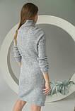 MIXRAY Стильное женское платье вязки лапша - серый цвет, M, фото 2