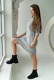 MIXRAY Стильное женское платье вязки лапша - серый цвет, M, фото 4