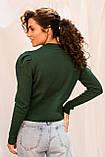 LUREX Вязаный свитшот с рукавами фонариками - зеленый цвет, M, фото 2