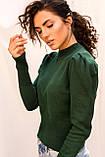 LUREX Вязаный свитшот с рукавами фонариками - зеленый цвет, M, фото 3