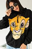 LUREX Худи с принтом Король лев - черный цвет, M, фото 3