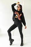 LUREX Толстовка с ярким принтом Гарфилд - черный цвет, S, фото 4