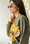 LUREX Свитшот с принтом Симба - хаки цвет, M, фото 3