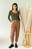 LUREX Стильный укороченный пуловер с пуговицами - зеленый цвет, S, фото 4