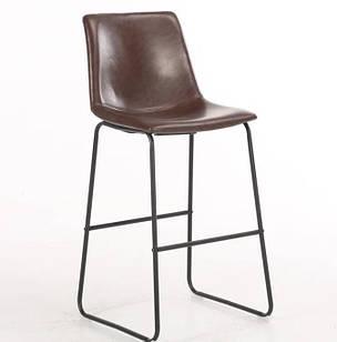 Стілець барний Техас Н SDM, металеву основу з підніжкою, екошкіра висота 75 см Шоколадний