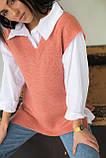 Mintas Женская жилетка с удлиненной спинкой и распорками - терракотовый цвет, M, фото 4