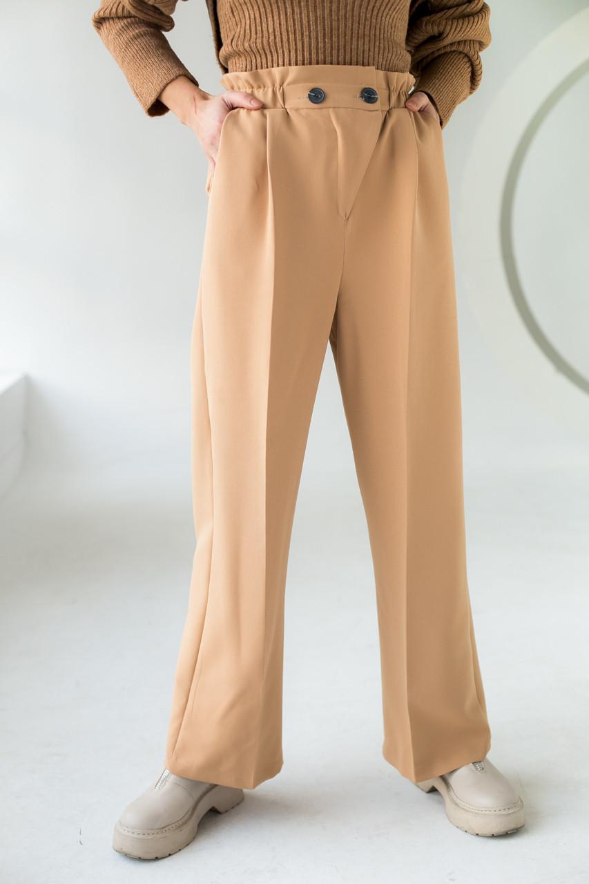 PERRY Свободные брюки прямого кроя на резинке - св-коричн цвет, L