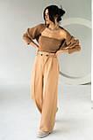 PERRY Свободные брюки прямого кроя на резинке - св-коричн цвет, L, фото 3