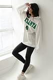 ADVES Худи оверсайз с капюшоном - белый цвет, S/M, фото 3