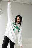 ADVES Худи оверсайз с капюшоном - белый цвет, S/M, фото 5