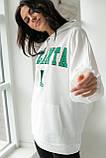 ADVES Худи оверсайз с капюшоном - белый цвет, S/M, фото 8