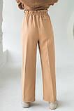 PERRY Свободные брюки прямого кроя на резинке - св-коричн цвет, XL, фото 2