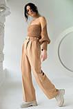 PERRY Свободные брюки прямого кроя на резинке - св-коричн цвет, XL, фото 4