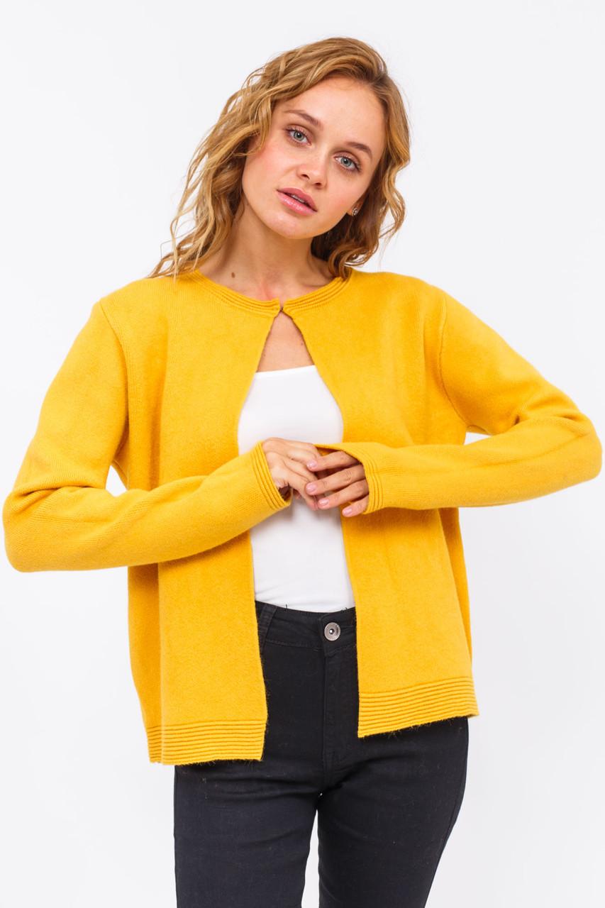 P-M Стильный короткий кардиган - желтый цвет, XL/XXL