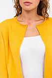 P-M Стильный короткий кардиган - желтый цвет, XL/XXL, фото 3