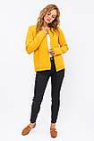 P-M Стильный короткий кардиган - желтый цвет, XL/XXL, фото 4