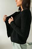 P-M Короткий кардиган со стильным узором - черный цвет, XL/XXL, фото 2