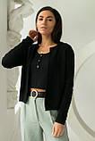 P-M Короткий кардиган со стильным узором - черный цвет, XL/XXL, фото 4