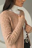 P-M Короткий кардиган со стильным узором - кофейный цвет, XL/XXL, фото 4