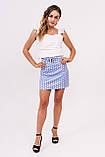 LUREX Мини юбка в горох - голубой цвет, S, фото 2