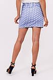 LUREX Мини юбка в горох - голубой цвет, S, фото 3
