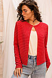 P-M Короткий кардиган люрекс - красный цвет, L/XL, фото 3