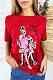 TITUS Милая футболка мама и дочка - красный цвет, L, фото 3