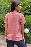 LUREX Базовая футболка с вышитой надписью  - пудра цвет, M, фото 2