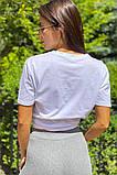 LUREX Базовая футболка с вышитой надписью  - белый цвет, L, фото 2