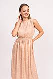 LUREX Длинное летнее платье - кофейный цвет, L, фото 2