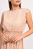 LUREX Длинное летнее платье - кофейный цвет, L, фото 4