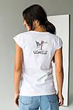 LUREX Женская коттоновая футболка с рисунком в стиле Pop-Art - белый цвет, L, фото 2