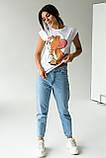 LUREX Женская коттоновая футболка с рисунком в стиле Pop-Art - белый цвет, L, фото 4