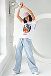 LUREX Футболка женская хлопковая Том и Джерри  - белый цвет, M, фото 3