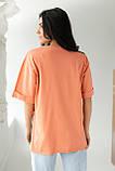 LUREX Удлиненная футболка с ярким принтом - коралловый цвет, S, фото 2