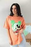 LUREX Удлиненная футболка с ярким принтом - коралловый цвет, S, фото 7