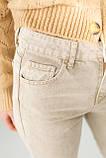 PERRY Котоновые джинсы мом - бежевый цвет, L (40), фото 4